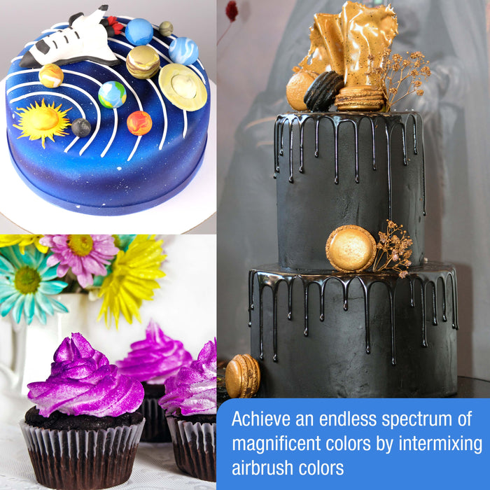 Chefmaster 12-Color 20ml Airbrush Cake Color Kit