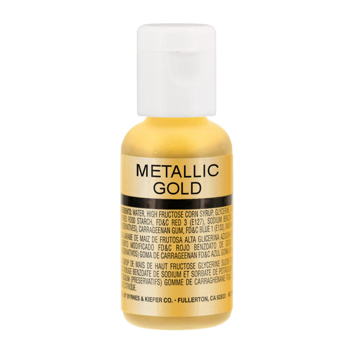 Metallic Gold, Airbrush Cake Food Coloring, .67 oz.