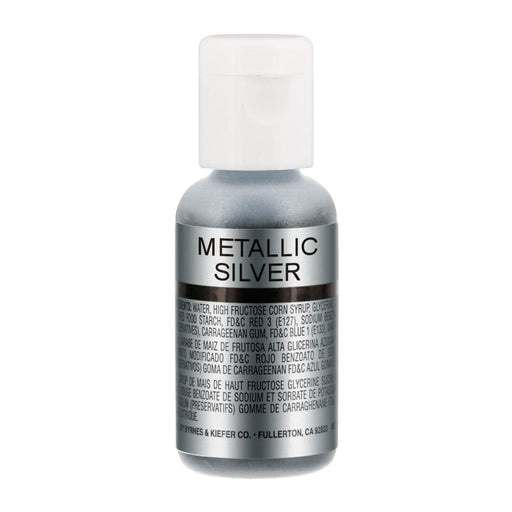 Metallic Silver, Airbrush Cake Food Coloring, .67 oz.