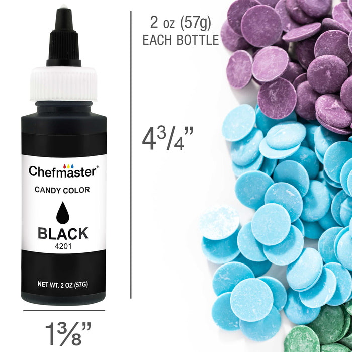 Black, Liquid Candy Color, 2 oz.
