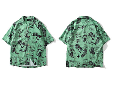Skull Hawaiian Print - Threads Unknown