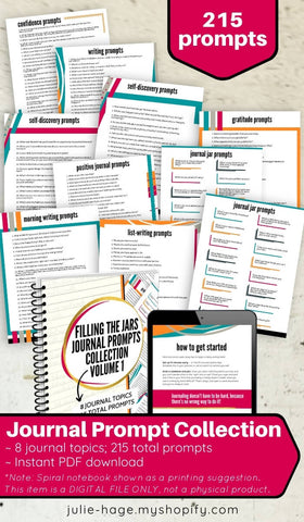 Journal Prompt Collection, Volume One: printable *digital product*
