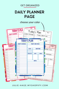 Daily Planner Page printable *digital product*