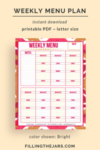 Weekly Menu Plan [Bright]