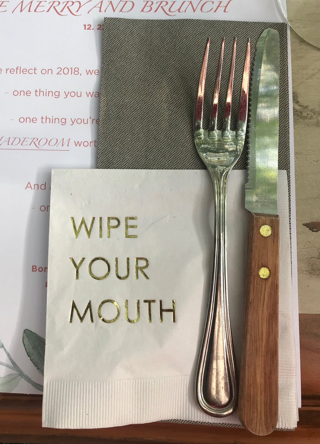 Wipe Your Mouth Holiday Napkins