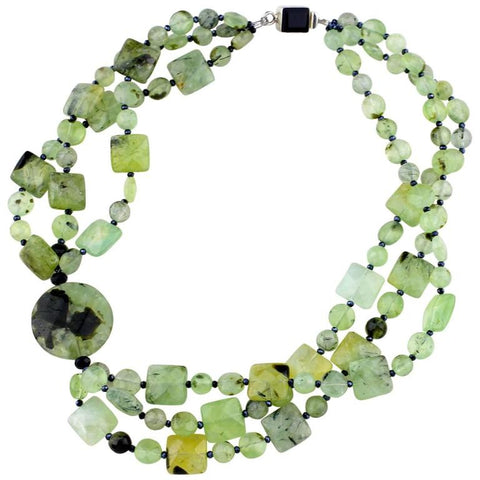 Stunningly Glowing Brazilian Prehnite Necklace