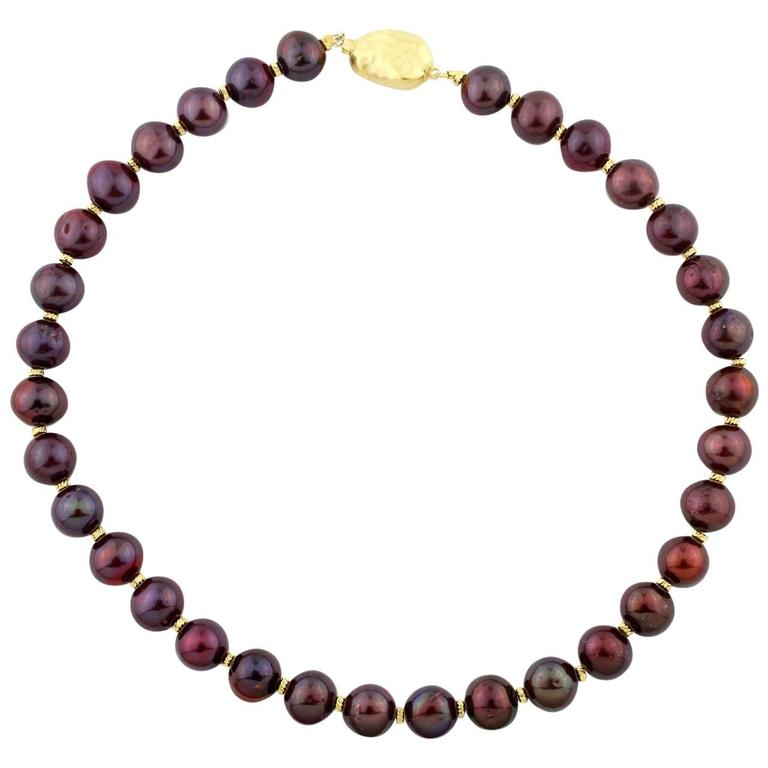 Chocolaty Reddish-colored Pearl Necklace