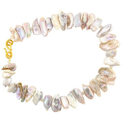 Fresh Water Cultured Pearls with Gold Plated Clasp