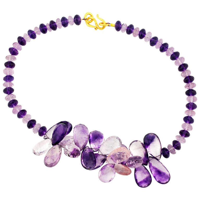 Glittering Amethysts of All Different Kinds Necklace