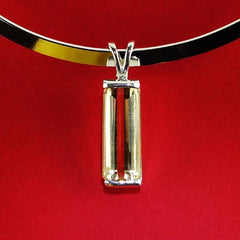Golden Citrine in Sterling Silver Pendant with Collar