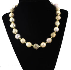 Multicolor Wrinkle Pearl Necklace