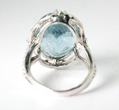Aquamarine Fashion or Cocktail Ring