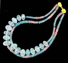 Aquamarines and Morganites 'Beryl' Necklace