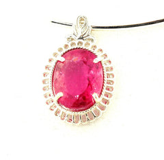 Tourmaline Sterling Silver Pendant