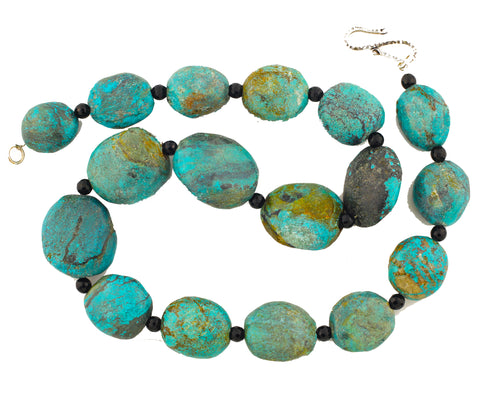 Turquoise and Spinel Necklace