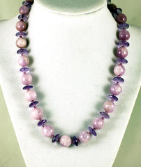 Amethysts and Kunzites Necklace