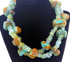 Aquamarines and Turquoise Necklace