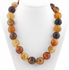 Exquisite Spider Web Jasper and Citrine Necklace