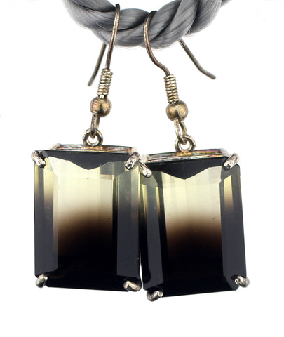Smoky Quartz & Citrine Combo Earrings