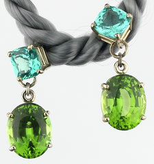 Extraordinary Peridot & Apatite Earrings