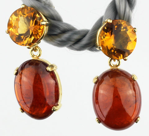 Citrines & Glowing Spessartites Earrings