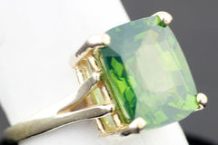 Beautiful Rare Sri Lanka Green Zircon Ring