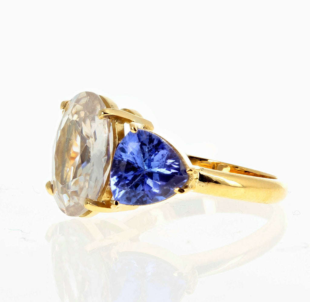 Zircon and Tanzanite 18K Gold Ring
