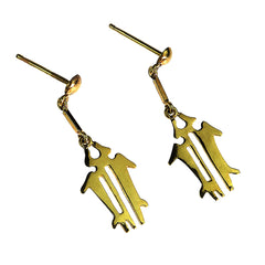 18K Yellow Gold NAZCA Lines Earrings