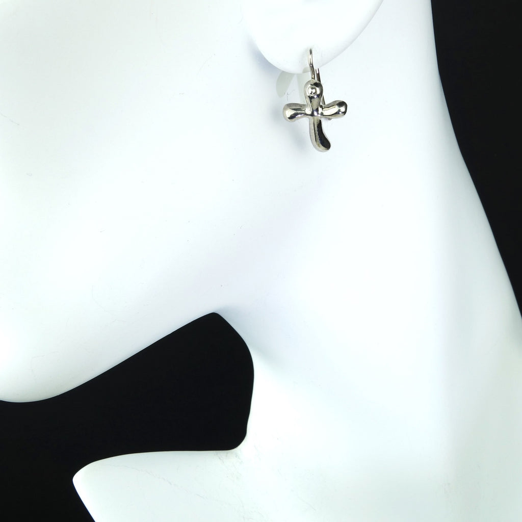 Gemjunky  Stylized Cross Earrings