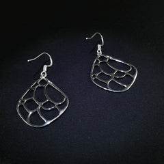Sterling Silver Leafy Swinging Earrings