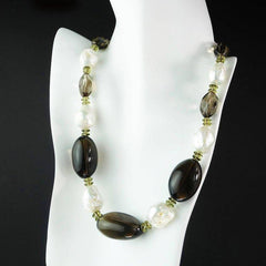 Baroque Pearl and Smoky Quartz Necklace