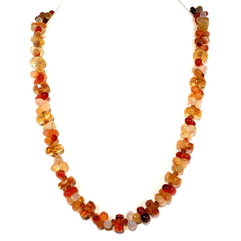 Fall Tone Multi-Color Agate and Citrine Necklace