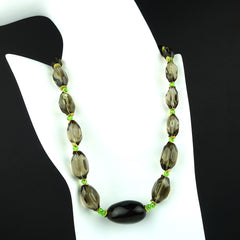 Gemjunky  Smoky Quartz Nugget Necklace