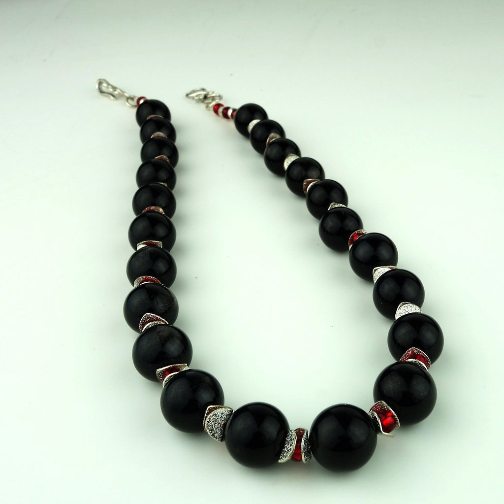 Gemjunky  Elegant Black Hypersthene Necklace