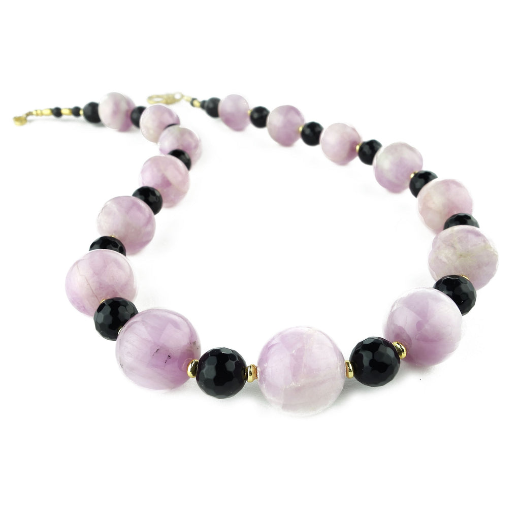 Sophisticated Kunzite and Black Onyx Necklace
