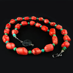 Gemjunky  Peach Coral Necklace
