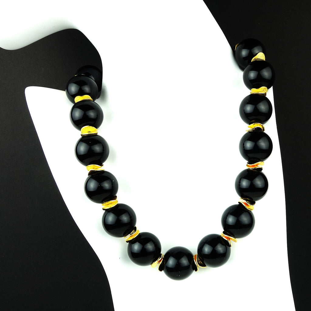 Gemjunky  Elegant Black Onyx Choker Necklace