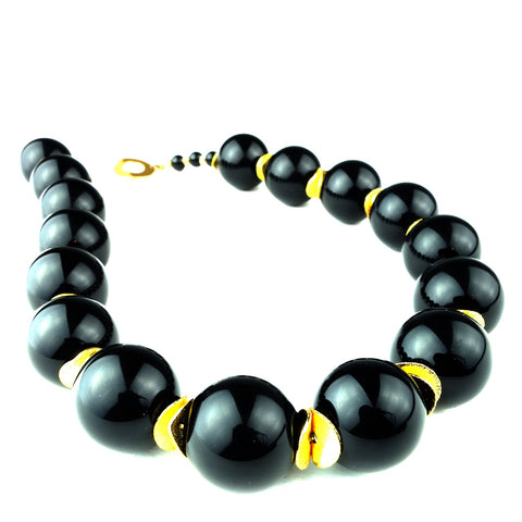 Elegant Black Onyx Choker Necklace