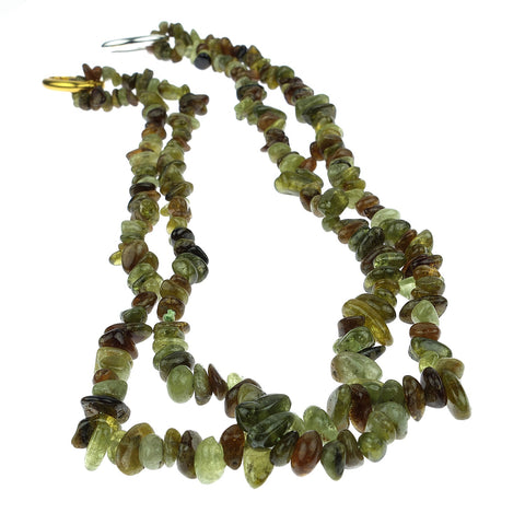 Gemjunky  Green Garnet Chip Necklace