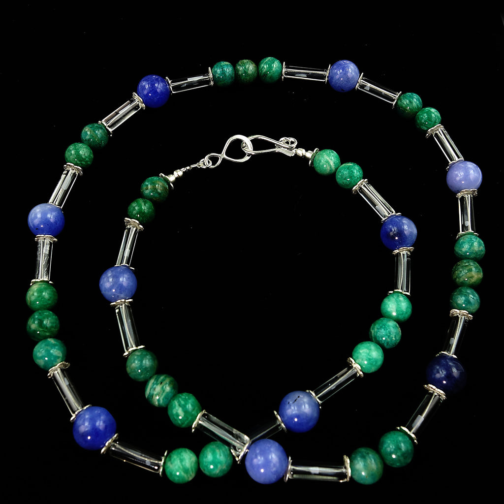 Updated look 26 Inch Blue and Green Necklace