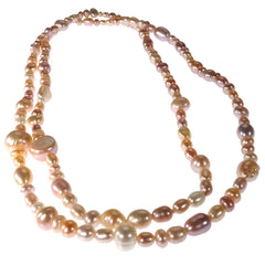 Gemjunky  Continuous 30 Inch strand of Freshwater Natural Color Pearls