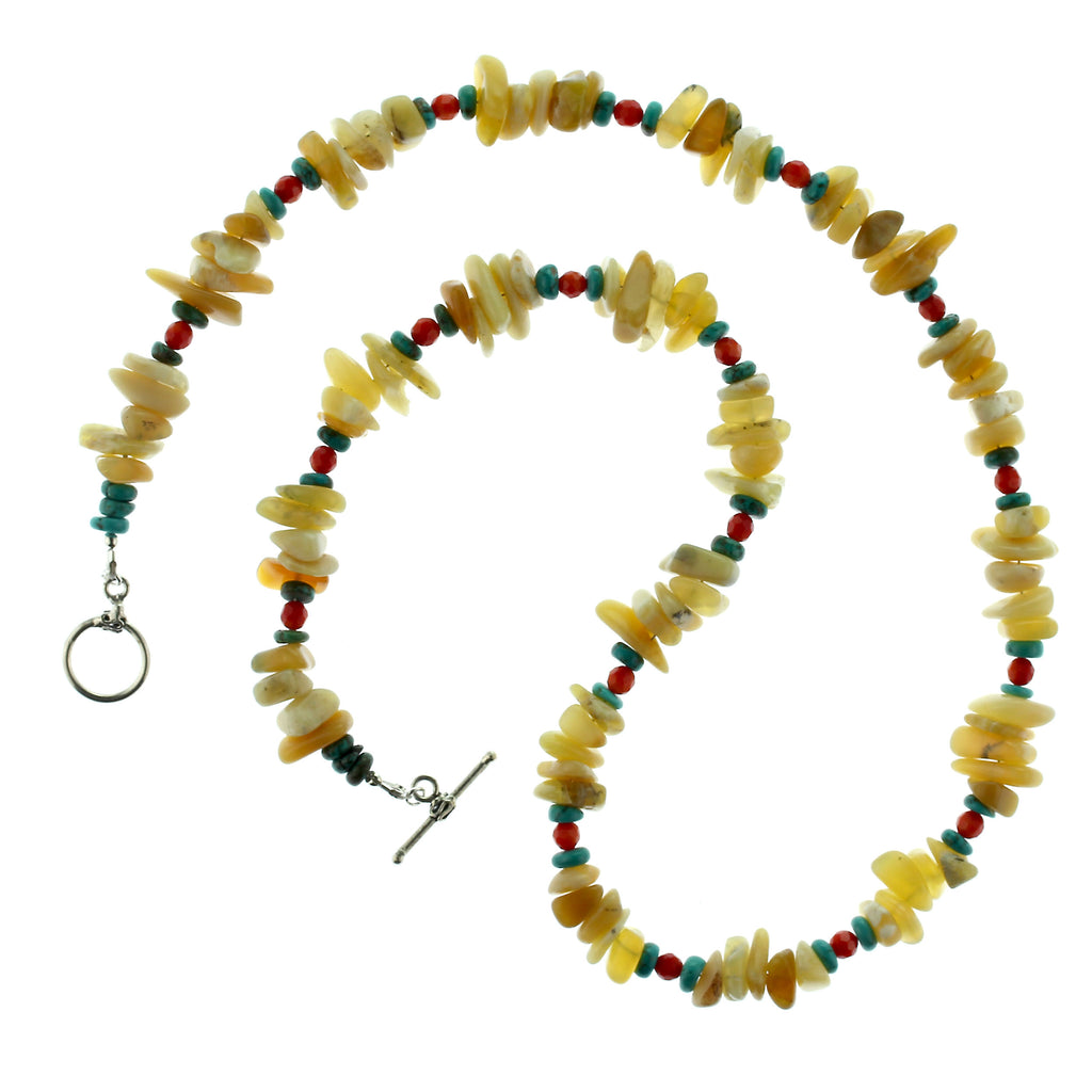 Gemjunky Unique Australian Yellow Opal necklace