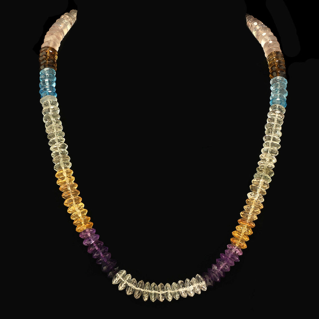 Gemjunky Elegant Multi Color Gemstone necklace
