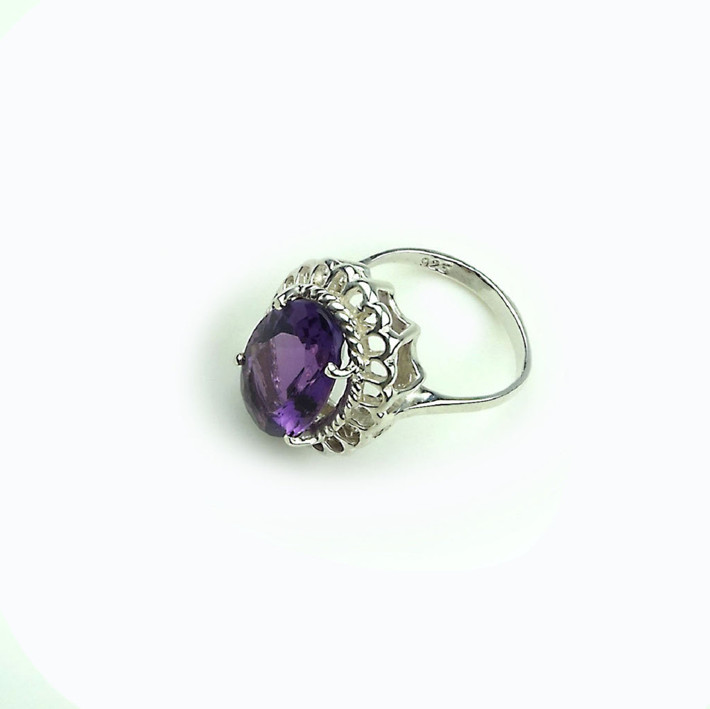 Amethyst in Sterling Silver Ring