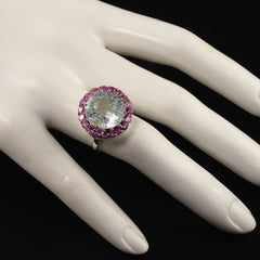 Cocktails Are Perfect with this Gemjunky Green Beryl and Pink Sapphire Ring