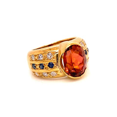 Magnificent Golden Brown Tourmaline and 18K Gold Ring from Gemjunky