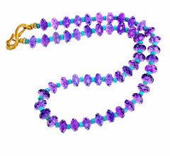 Glittering Amethyst and Turquoise Necklace