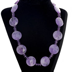 Amethyst and Rose of France Amethyst Necklace