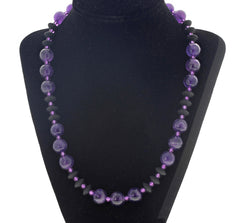 Amethyst and Black Onyx Necklace