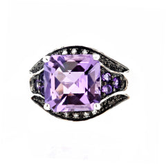 10 Carat Amethyst and Diamond Ring